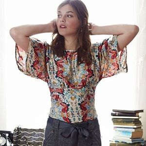 Anthropologie Winterstar Blouse by KAS New YorkC25